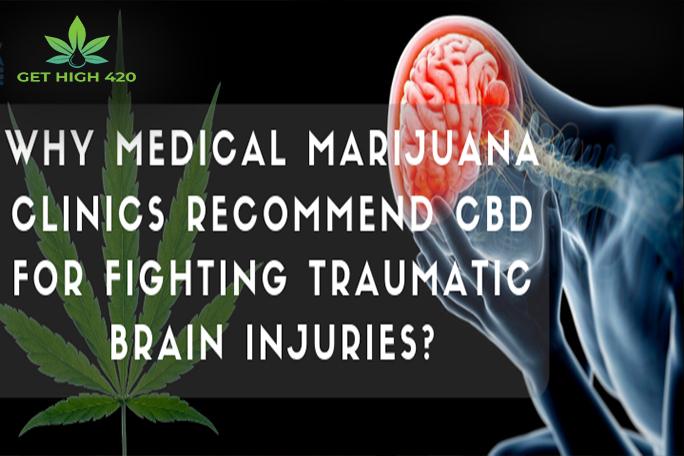 Why do medical marijuana clinics advocate CBD to fight traumatic brain injury?